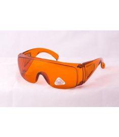 Védőszemüveg narancs, szemüvegre helyezhető